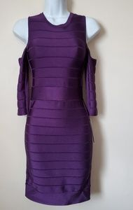 French Connection purple bodycon dress Size 4